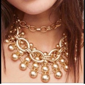 NWT Free People moonlit night necklace in gold